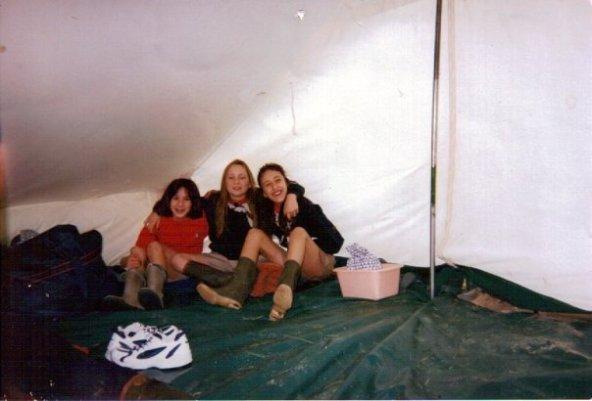 Do., moi et De. lors d'un camp